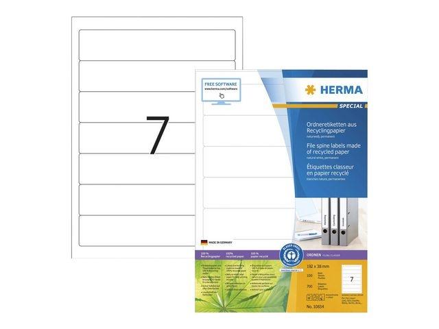 Herma Etiketten A4 192x38 mm wit/pk700