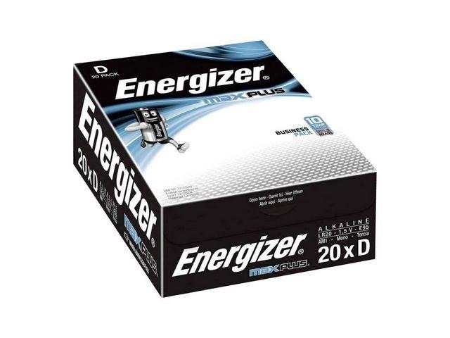 Energizer Batterij Energizer Max Plus D/LR20/pk20