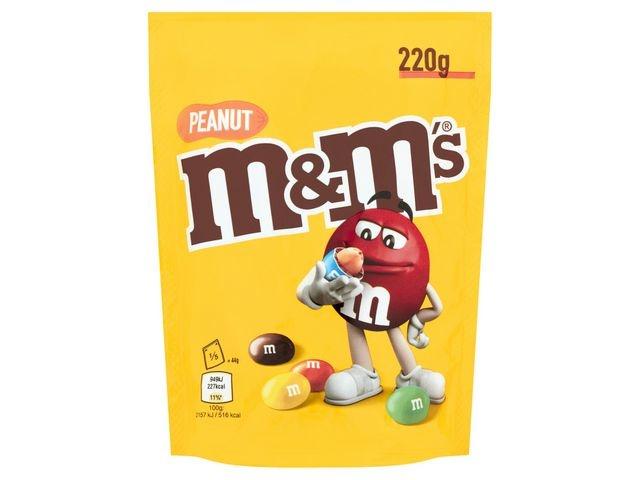 M&M'S Chocoladesnack M+M's pinda 220gr