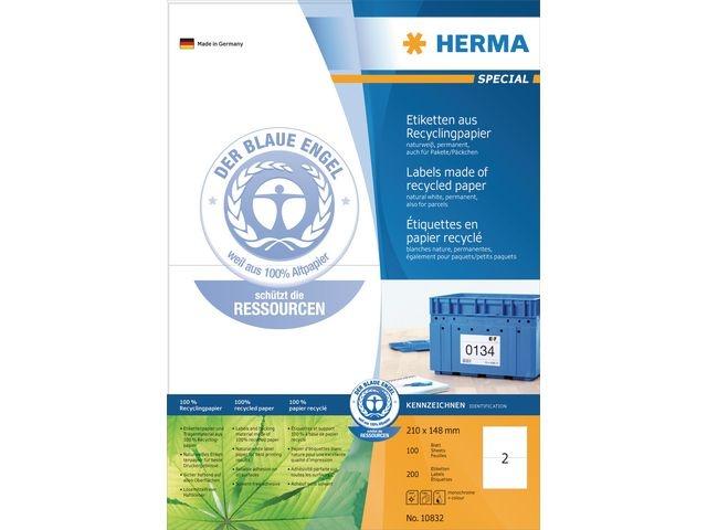 Herma Etiket ILC 210x148 recy wit/pak 200