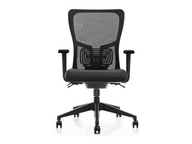 Bureaustoel Sano 25 mesh/stof zwart
