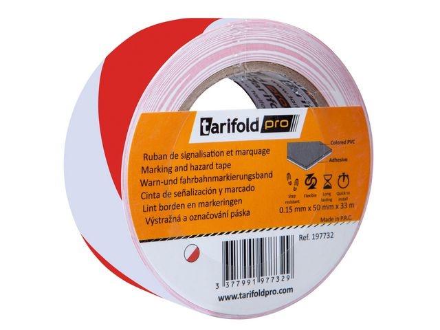tarifold Markeringstape Jalema 50mmx33m rd/wt