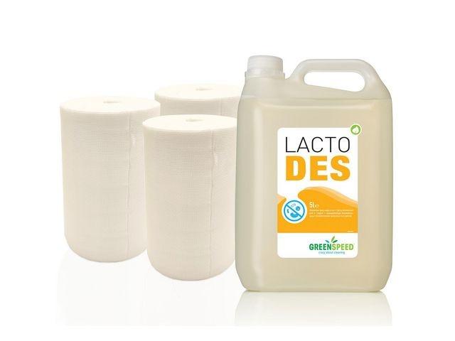 GREENSPEED Navulpakket reinigingsdoeken + Lacto Des