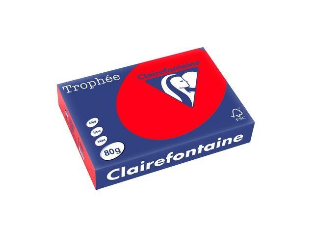 Clairefontaine Papier Trophée A4 80g rood/pak 500v