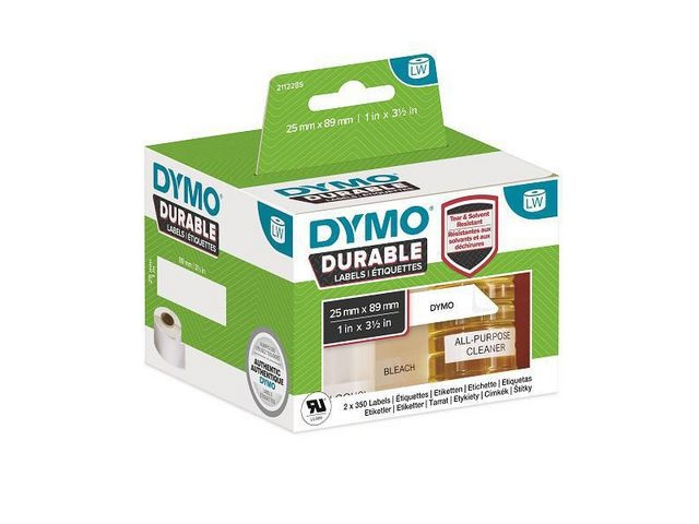 Dymo Label Dymo Durable 25x89mm 2x350