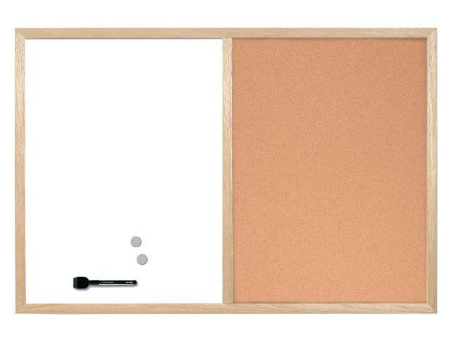 Bi-Office Combinatiebord 2-in-1 Bi-office 60x80