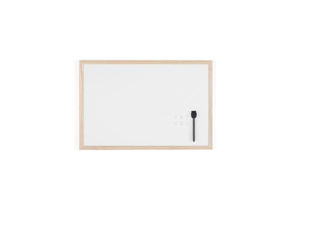 Bi-Office Whiteboard gelakt staal 40x60 rand hout
