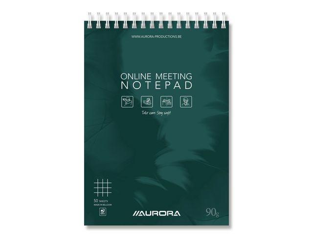 AURORA Notepad conference Aurora A5 geruit 50v