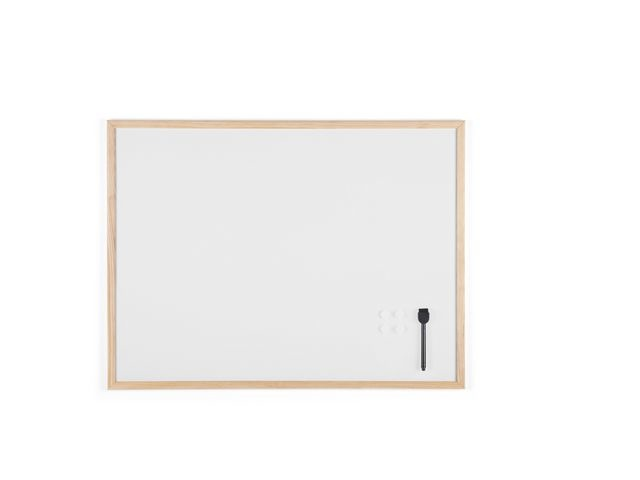 Bi-Office Whiteboard gelakt staal 60x80 rand hout