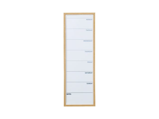 Bi-Office Planner week 90x30 magn rand hout