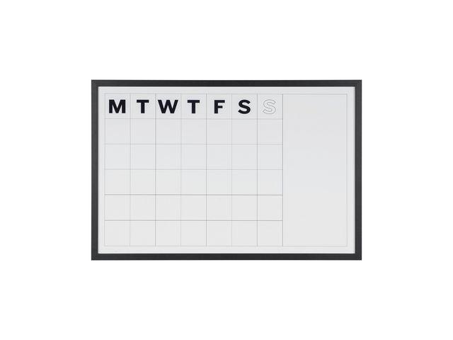 Bi-Office Planner maand 90x30 magn zwart frame