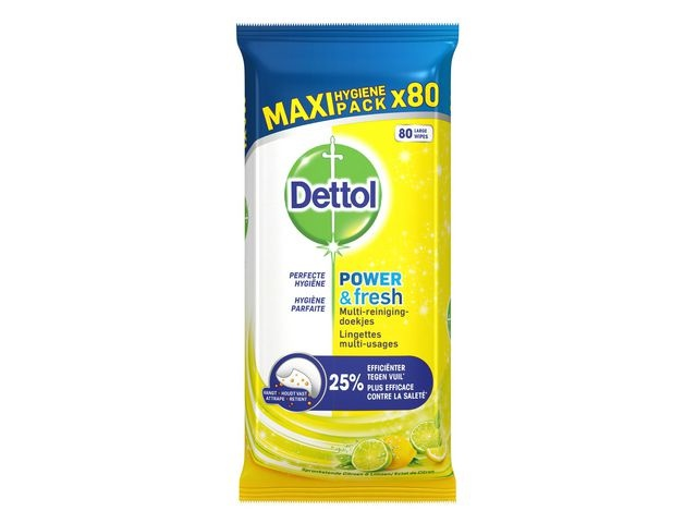 Dettol Reinigingsdoek Dettol Pwr+Fr Citrus/pk80