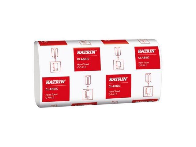 KATRIN Handdoek Katrin 2L c-vouw wit /ds 18x125