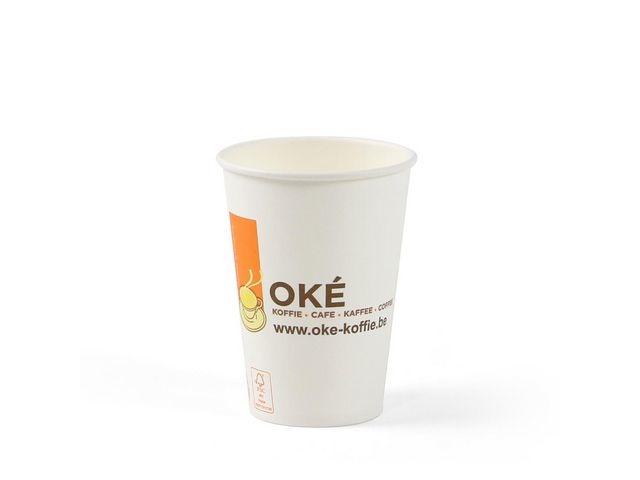 OKÉ KOFFIE CAFE KAFFEE COFFEE TRADITION & QUALITY Kartonnen bekers Oké 180cc wit/pk100