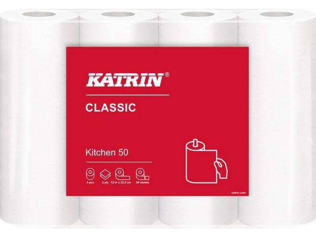 KATRIN Keukenrol Katrin 2L 22.5x23cm wit/pk4rl