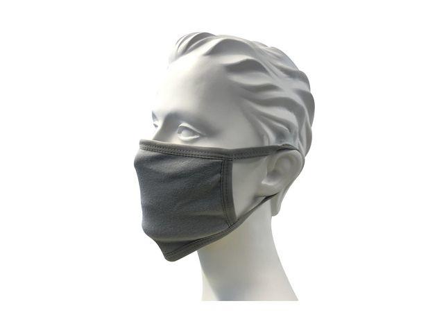 Mondmasker 3 laags katoen grijs/pk25