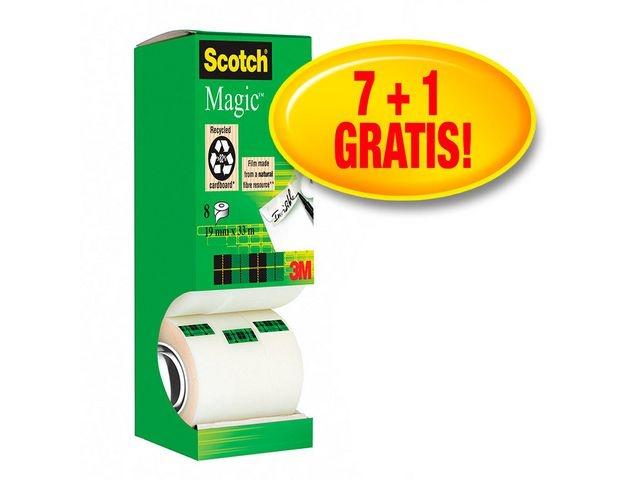 Scotch® Plakband magic Scotch 19mmx33m/pk8rl