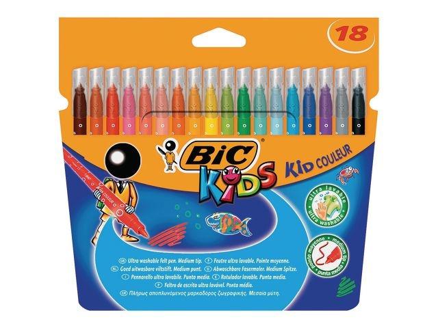 BiC Viltstift Bic kid couleur med ass/pk 18
