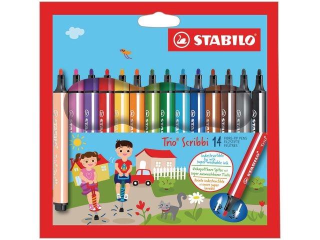 STABILO Viltstift Stabilo Trio scribbi/pk 14