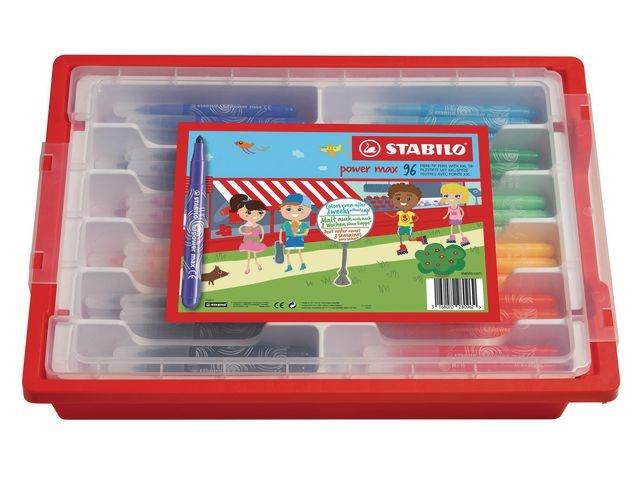 STABILO Viltstift Stabilo Power Max ass/96