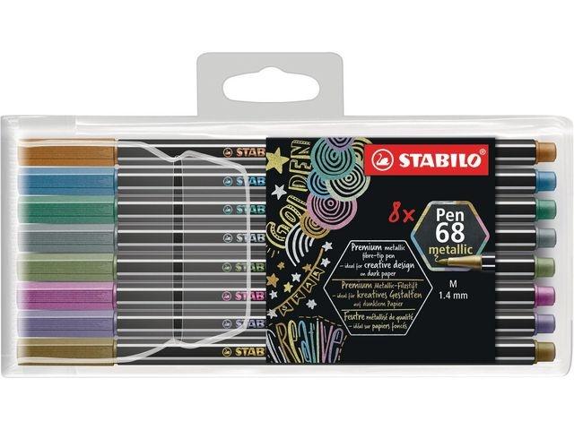 STABILO Viltstift Stabilo 68 metalic ass/etui8