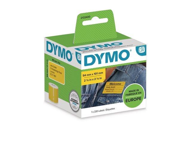 Dymo Etiket Dymo LW 54x101mm geel rl220