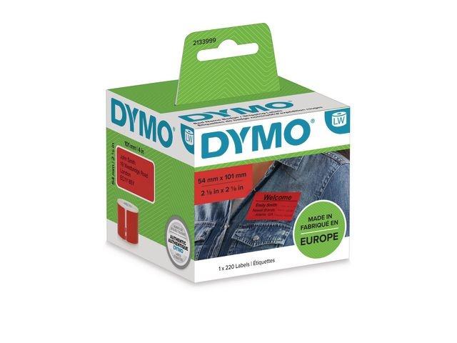 Dymo Etiket Dymo LW 54x101mm rood rl220