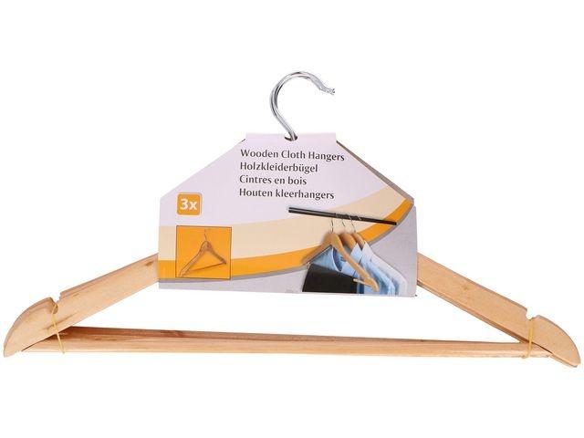 Kledinghanger 44x24cm hout/pak 3