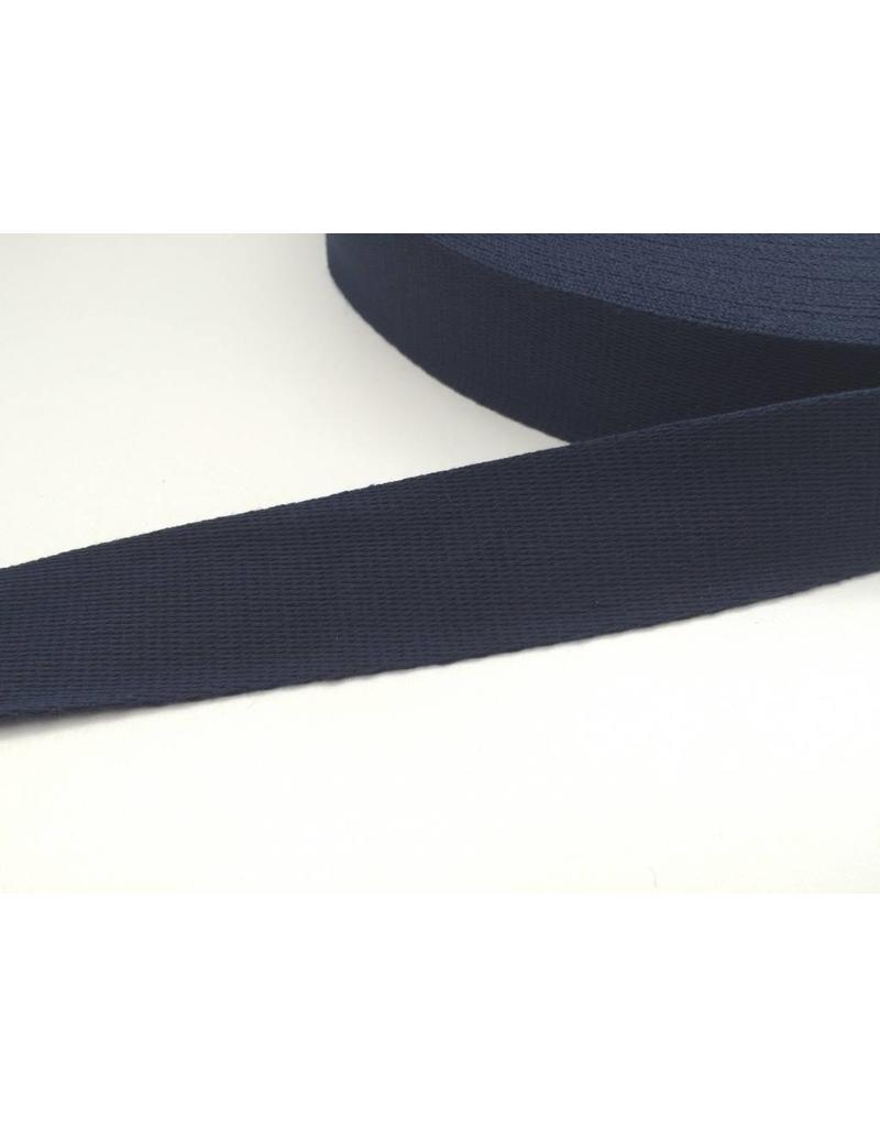 1 Meter Gurtband 40mm Dunkelblau