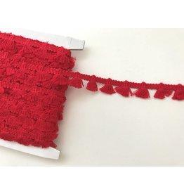 1m Quastenborte aus Baumwolle Rot