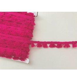 1m Quastenborte aus Baumwolle Pink