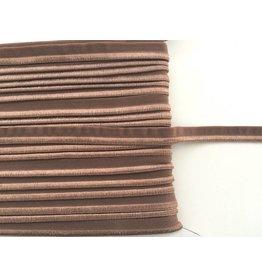 2m elastisches Paspelband Braun 10mm
