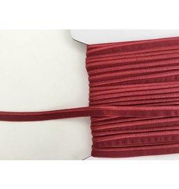 2m elastisches Paspelband Weinrot 10mm