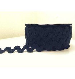 2m große Zackenlitze Schwarz 15mm