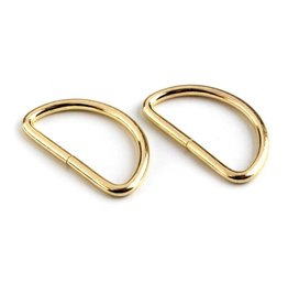 2x D-Ring  32mm  Gold
