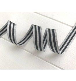 1m Retrostripe Webband Schwarz Silber