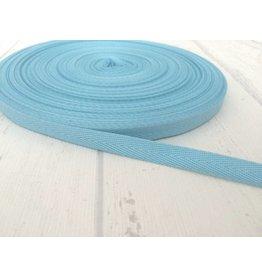 3m feines, schmales Köperband 10mm Hellblau