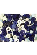 1 Kilo Knöpfe Blau