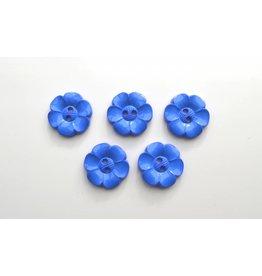 5x  Blumenknöpfe 22mm Royalblau