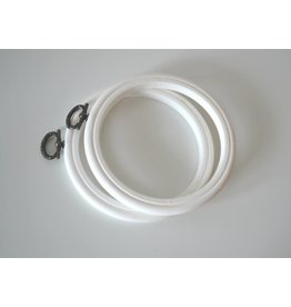 Kleiner Stickring  Ø 10,5 cm  Weiß Stickrahmen