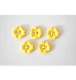 5x  Blumenknöpfe 22mm Gelb