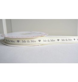 1m   Mr &  Mrs    Ripsband  16mm Ecru