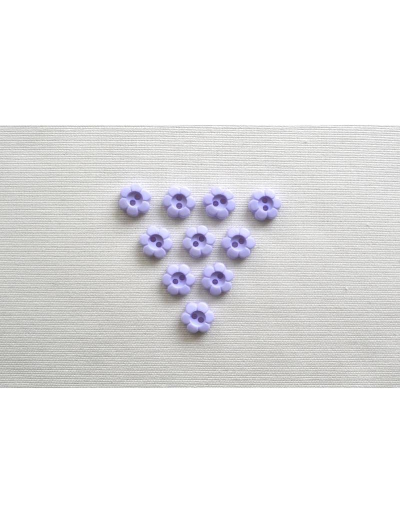 10x kleine 2-Loch Blumenknöpfe 11mm Flieder