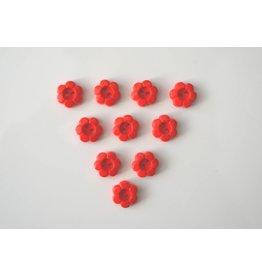 10x kleine 2-Loch Blumenknöpfe 11mm Rot