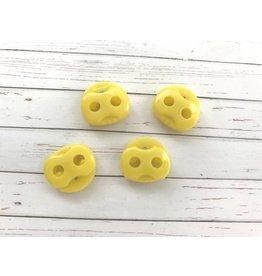 4 Stück Kordelstopper Gelb