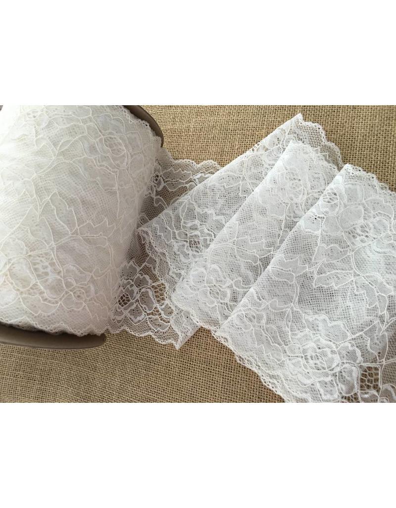 1m elastische Wäschespitze  16,5cm Ecru