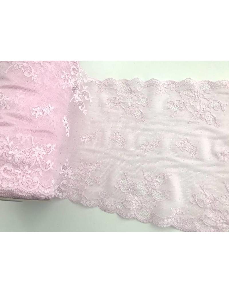 1m elastische Spitze  23,5cm Rosa