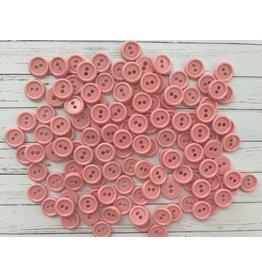 100x  2-Loch Plastikknöpfe Rosa