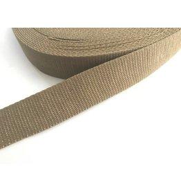 1m Gurtband  30mm Beige-Gold