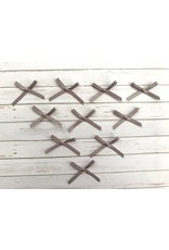 10x kleine Satin Schleifen Grau